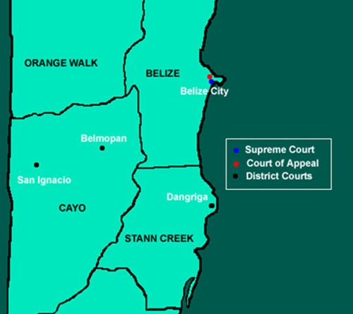 Belize  Judicial Map