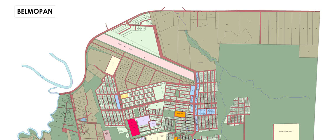 Belmopan Map Showing Lots - Belize map belmopan