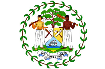 Belize National Symbols Flag Flower Tree Bird Animal